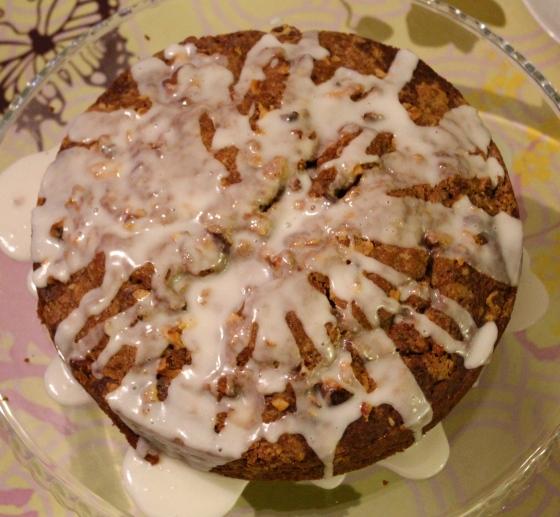 Graskerskaffikaka með pekanhnetumylsnu